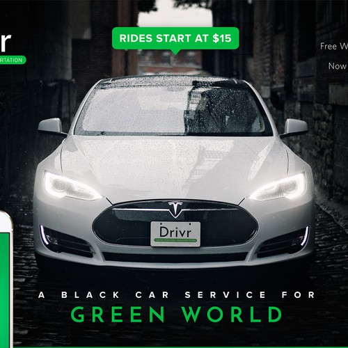 Captivate an airport audience with a vibrant image for a Tesla Taxi
