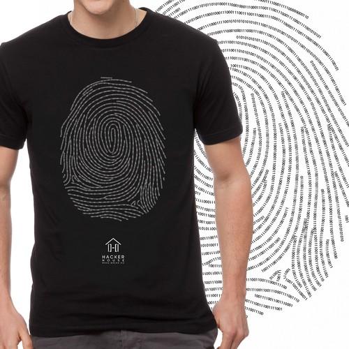Tshirt design for Hacker company