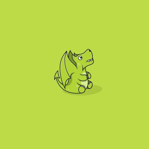 qute little  green dragon
