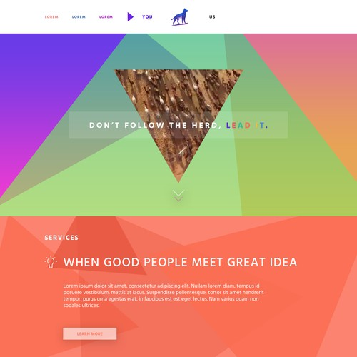 Design a homepage for a tech company