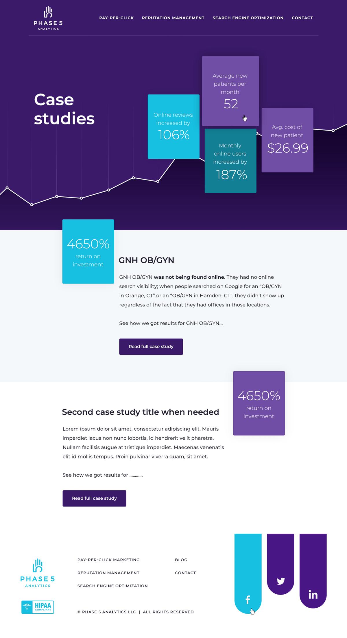 Webpage and PDF design