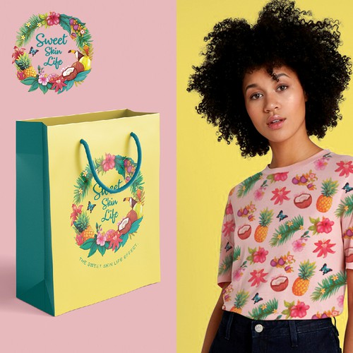 Colorful design for Sweet Skin Life