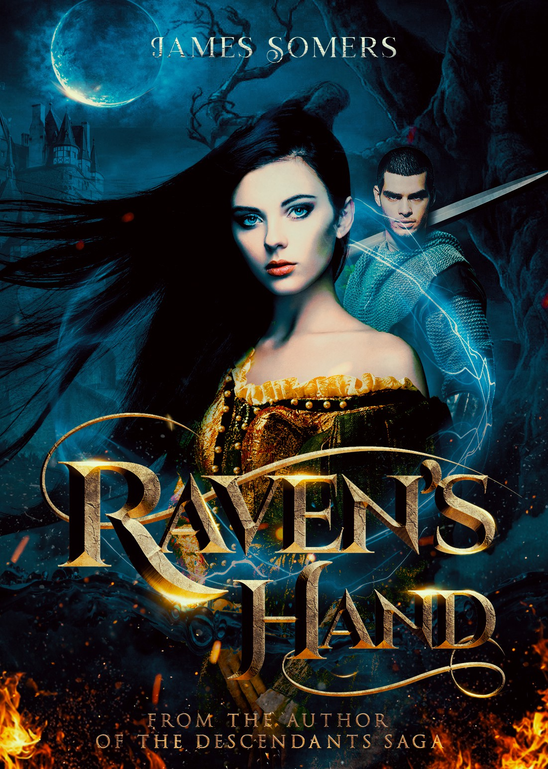 Raven's Hand fantasy romance kindle e-book and completed audible.com cover version