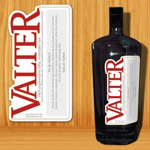 Valter label design
