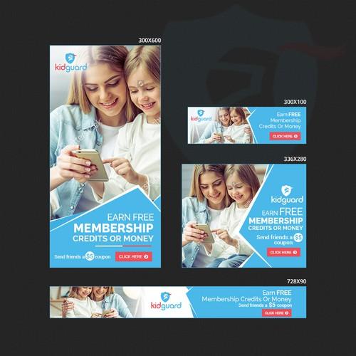 Refer A Friend Banner Ads Design