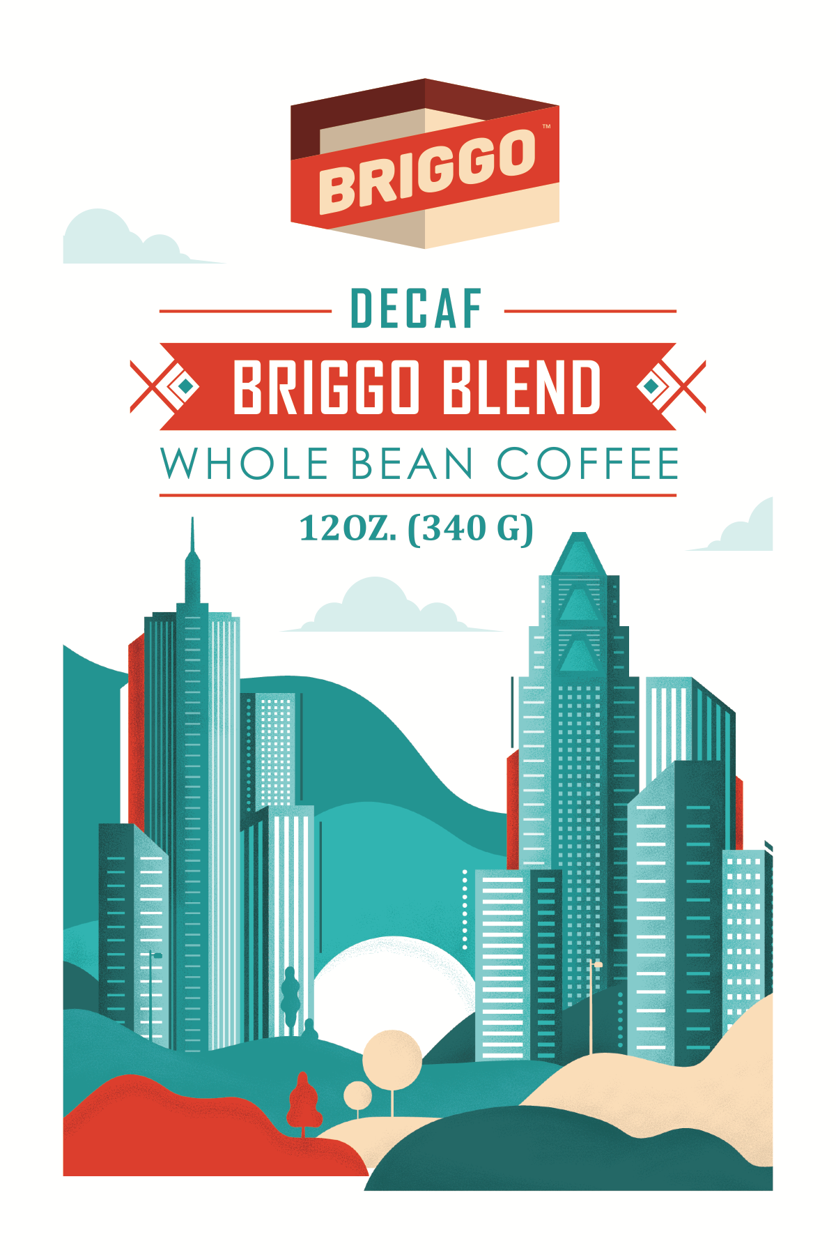 Coffee package stickers