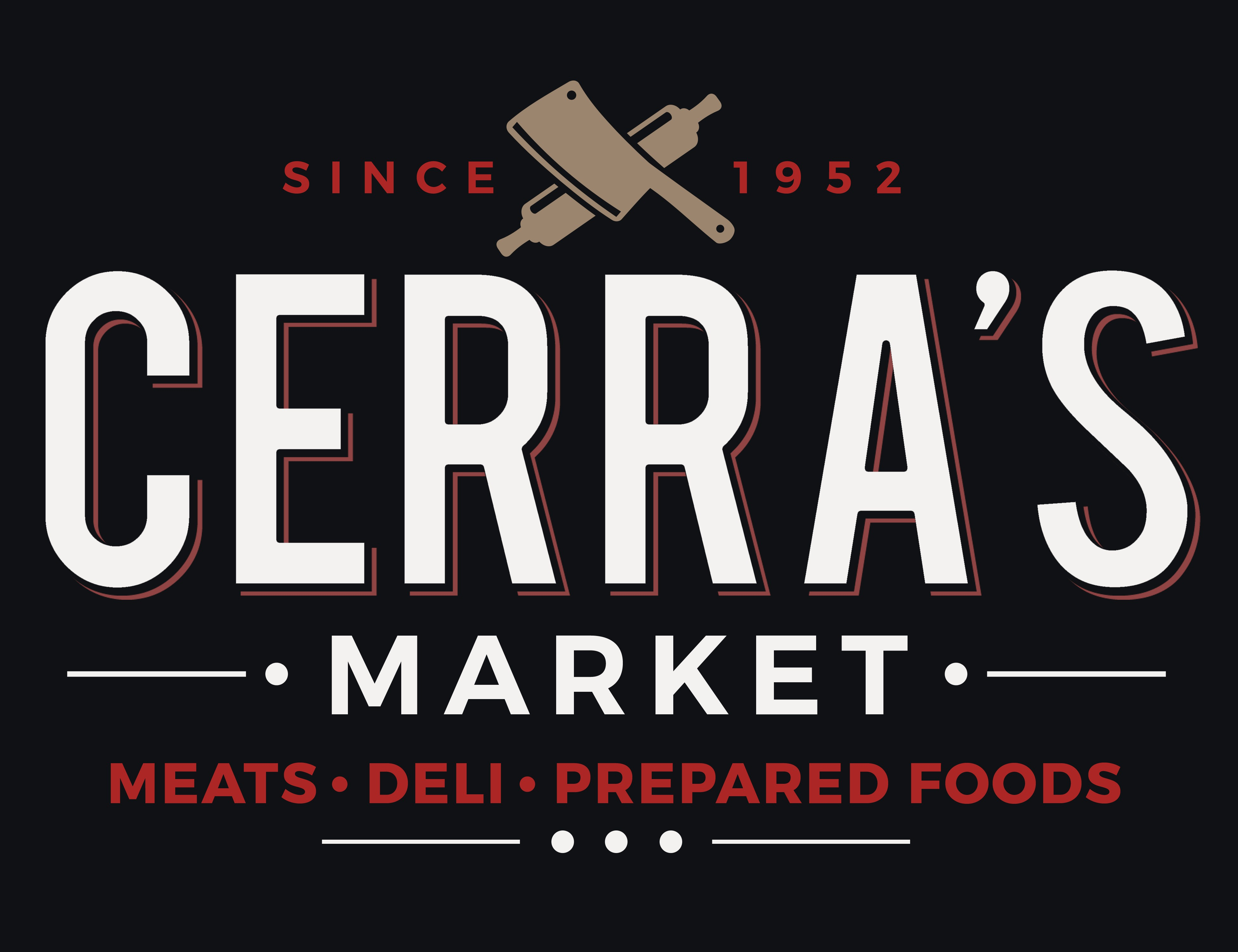 Create a catchy logo for Cerra's (meat, deli, & prepared foods)