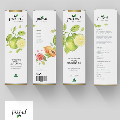 Creative Packaging Design for Facial Cleansing Oil