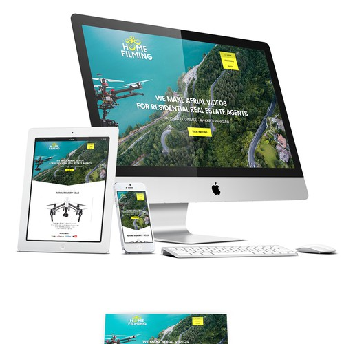 Design for Nationwide Aerial Photography Company website