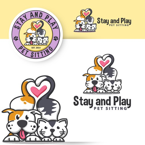 "Logo design for Pet Sitting company ""Stay and Play"""
