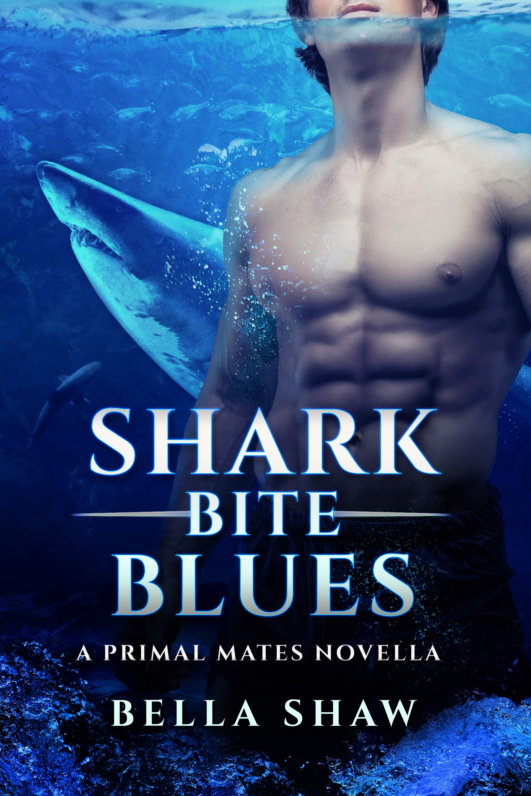 """Create a Paranormal Romance Ebook Cover for """"Shark Bite Blues"""""""