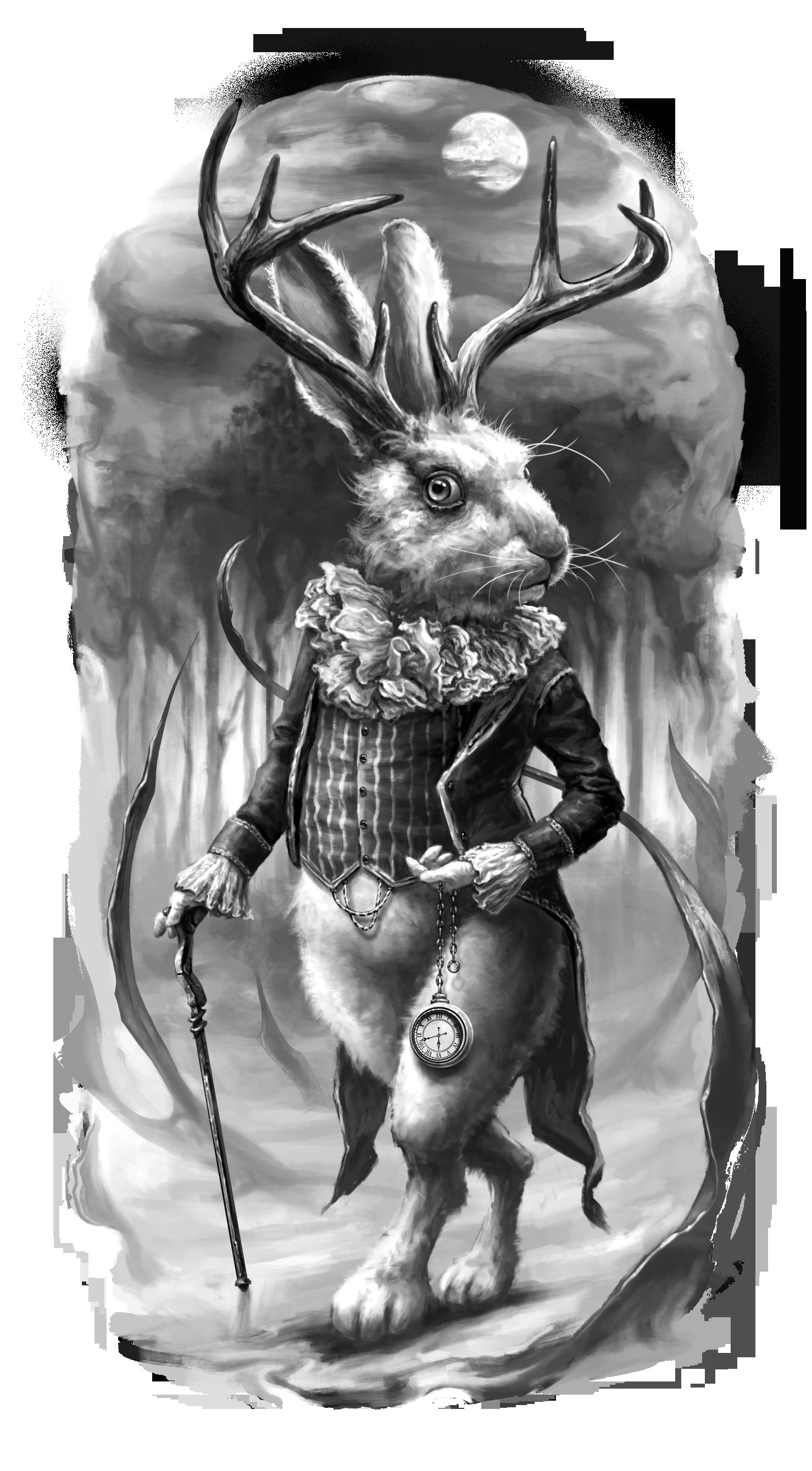 White Rabbit Tattoo design