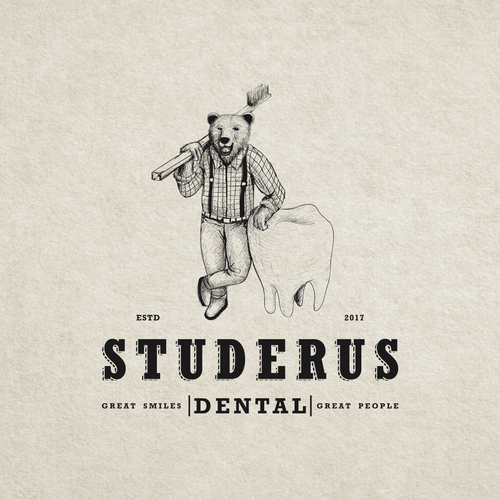 home! Lumberjack, barber, hotrod driving DENTIST wants a manly logo with flair.