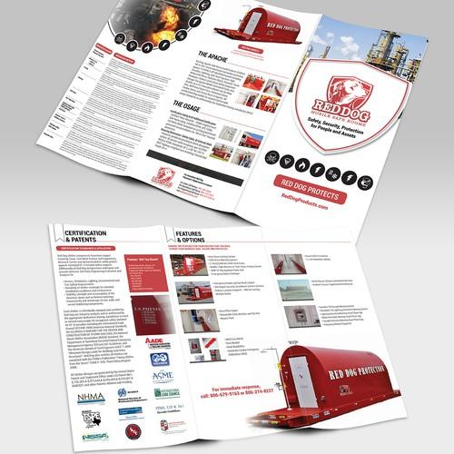 Tri-Fold Pamphlet for Bomb Shelter Company
