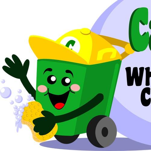 FUN logo for a wheelie bin business