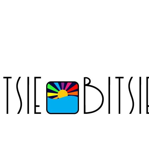 Fun, colorful, quirky beachwear clothing logo for Itsie Bitsie