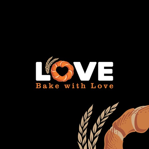 Classic logo for traditional Turkish bagel (Simit)