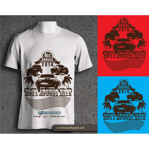 Hawaiian dealership needs 4th annual event tee shirt logo!!!! Looking for new corporate logo too!!!