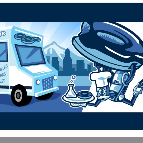 SciFi Donut truck logo