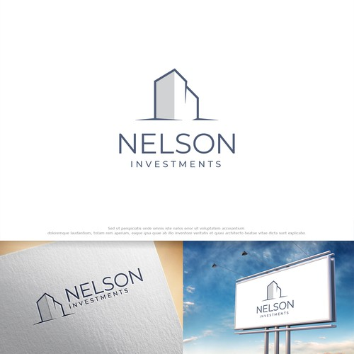 Example of a sophisticated, modern and professional logo for a real estate company