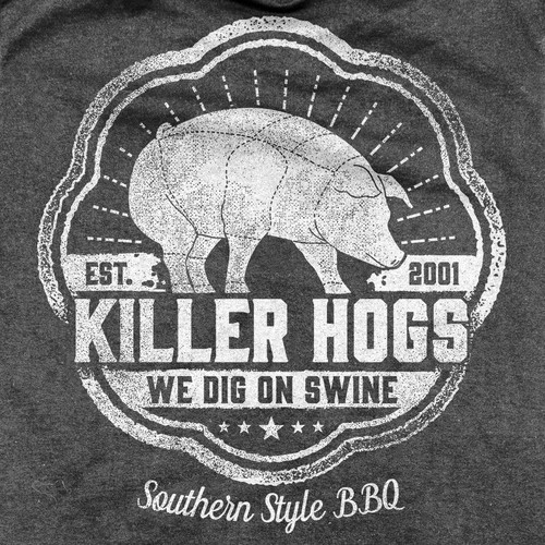 Southern Style BBQ Killer Hogs T-shirt