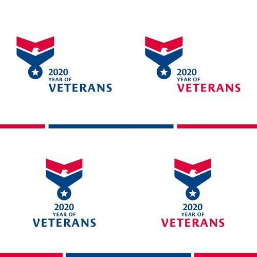 2020 Year of Veterans for Logo Design
