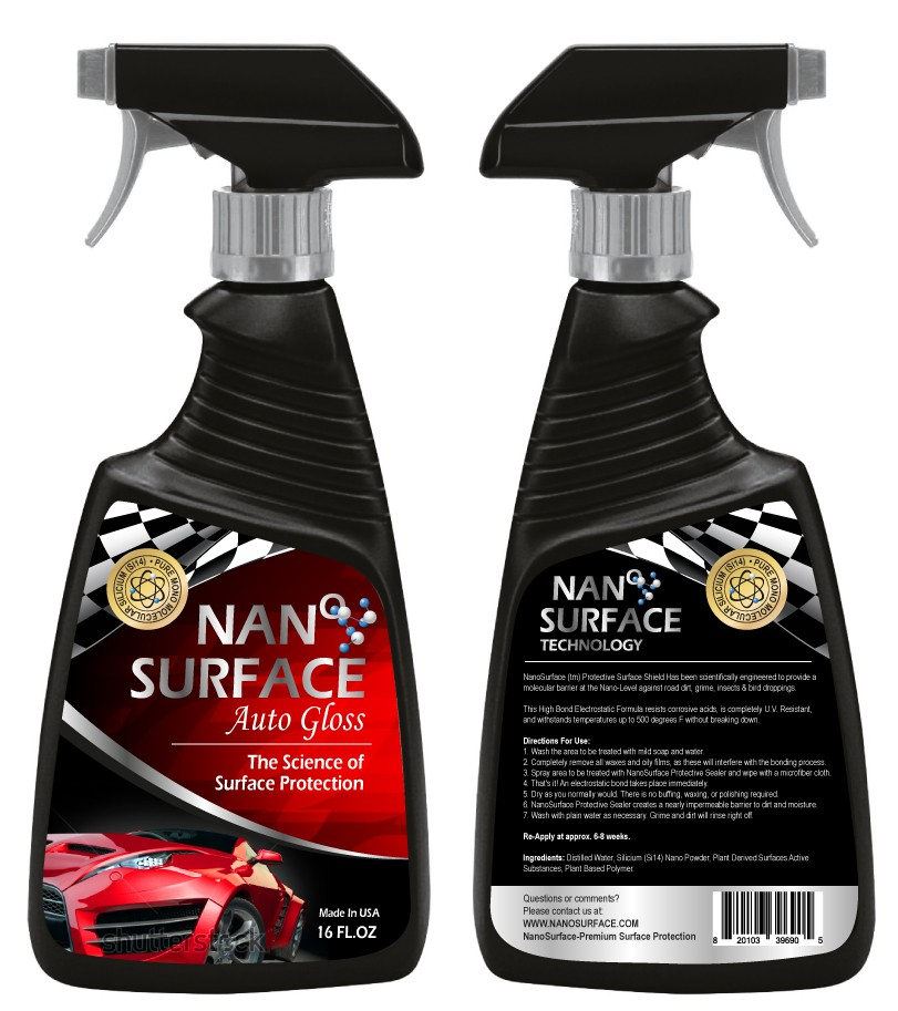 Create Label for New Line of All Natural, Nano Based Surface Protectant Sprays