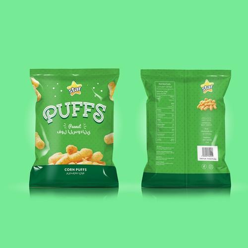 Winner - Star Puffs Peanut Package