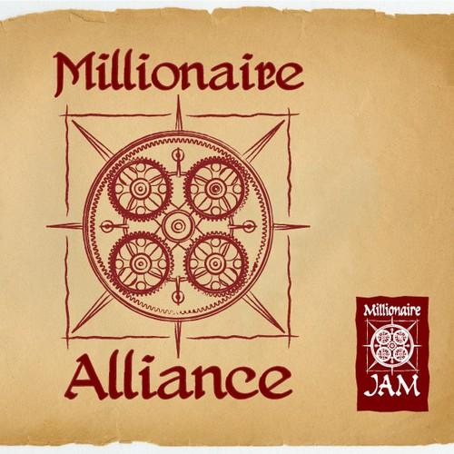 da Vinci style logos for Millionaire JAM & Millionaire-Alliance