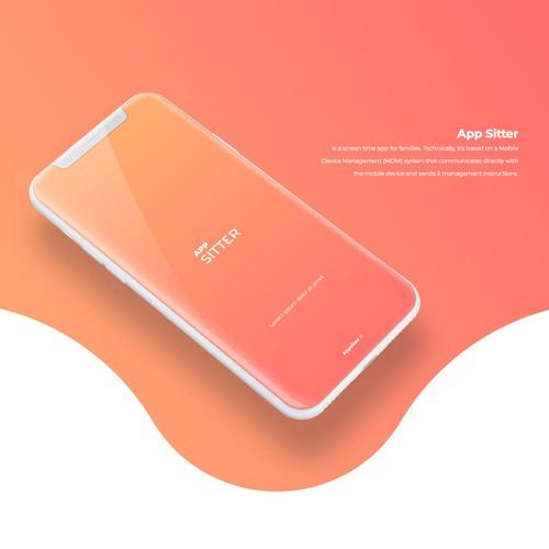 Playful and elegant app design for App Sitter screen time app