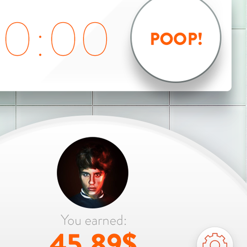 "Create a mobile interface for our new app ""Poop Plotter"""