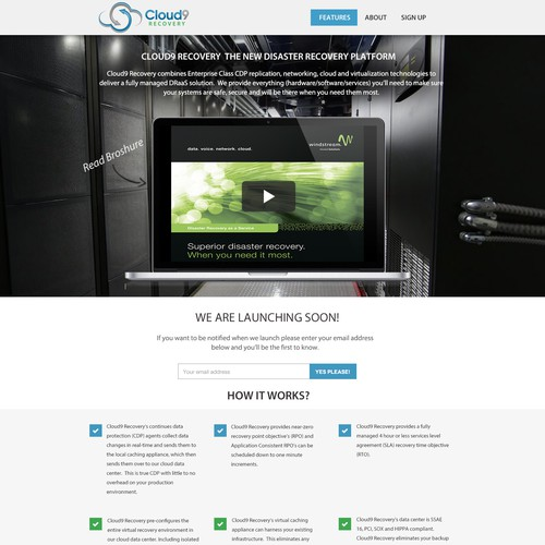 Create the next landing page for Cloud9 Recovery
