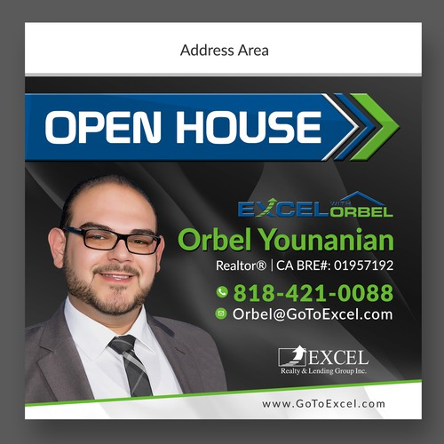 Open House directional sign Design