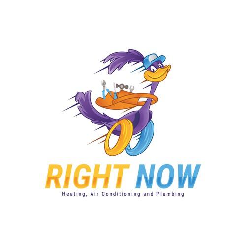 Roadrunner Mascot design
