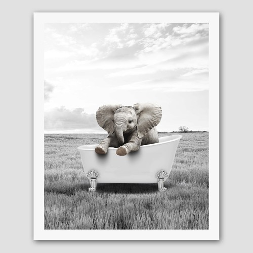 Poster design Animal Bathroom Print