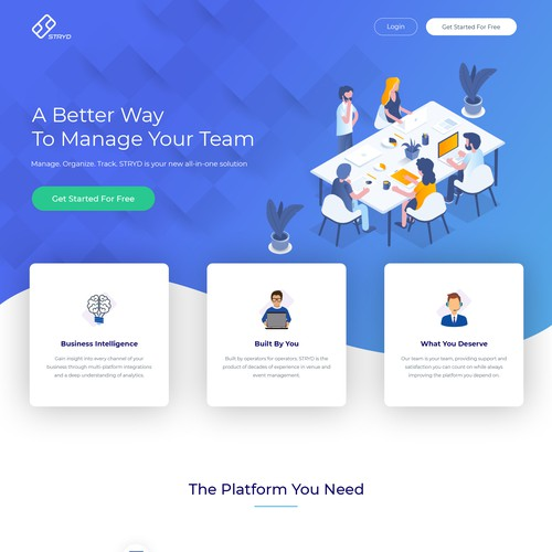 Team Management Platform Web Design