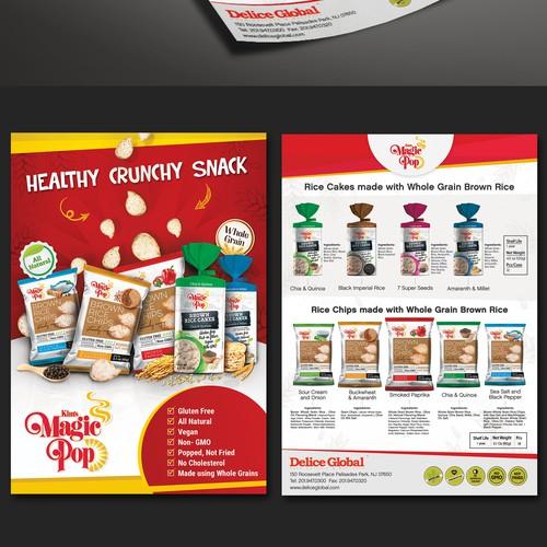 Healthy Crunchy Snack Flyer
