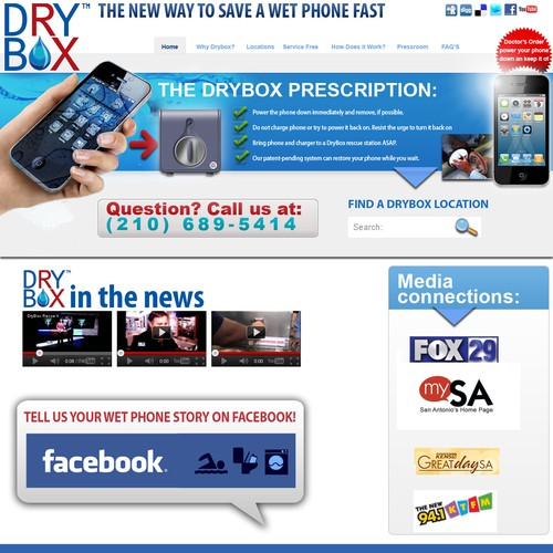 Create the next website design for Dry Ventures Inc.