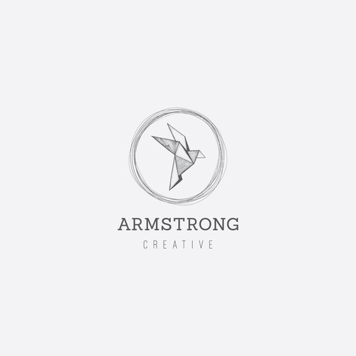 Origami bird design for Armstrong Creative