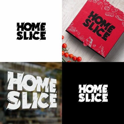 Logo concept for HOME SLICE