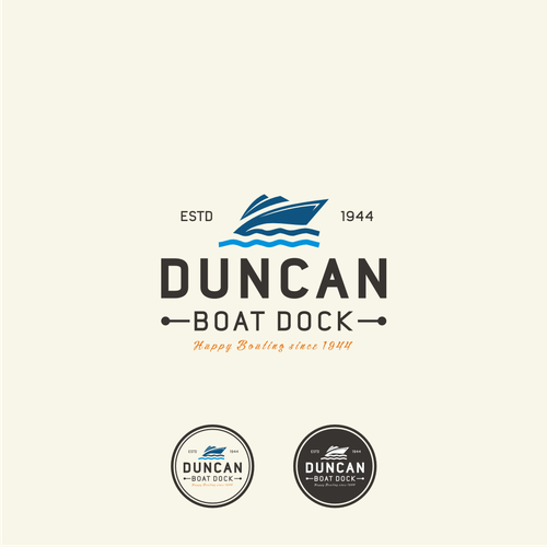 Bold logo concept For Duncan Boat Dock