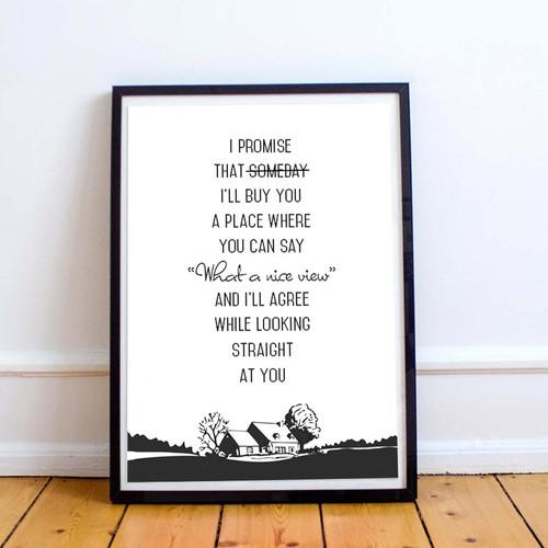 Minimalist quote poster