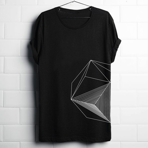 geometric graphic tee