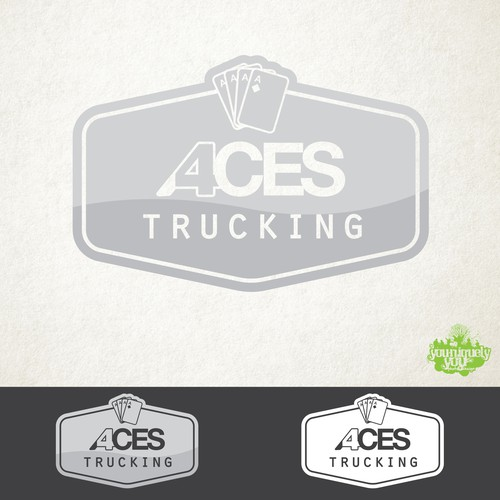 4 Aces Trucking Company Concept Logo