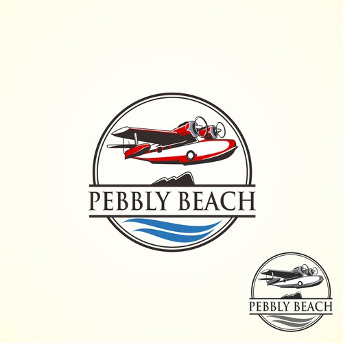 Pebbly Beach Logo Design