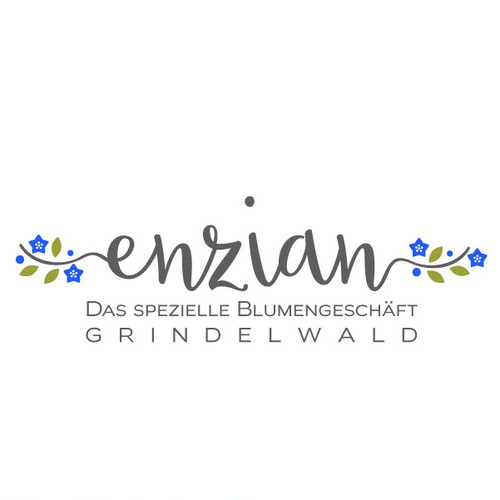 Logo design for flower shop in the Swiss Alps