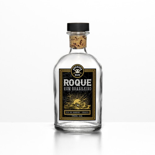 Roque Rum Label Design