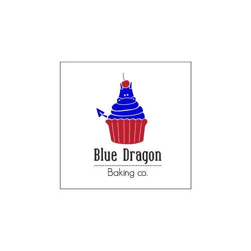 Eye-Catching Logo for Blue Dragon Baking Co.