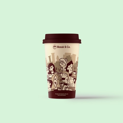 Coffee cup for Bassk & Co.