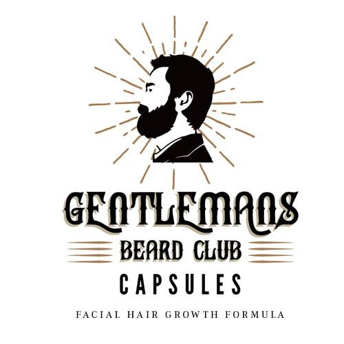 Label Cum logo for Gentlemans Beard Club
